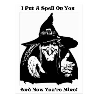 Witch Putting A Spell On You Postcard