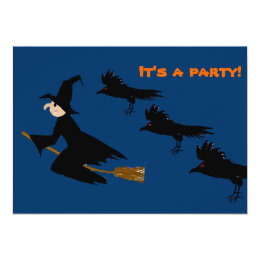 Witch & Ravens It's a party! Card