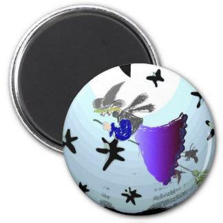 Witch ride 2 inch round magnet
