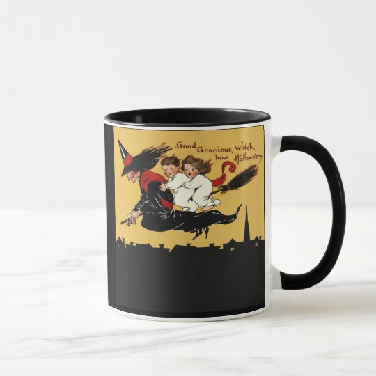 witch ride mug