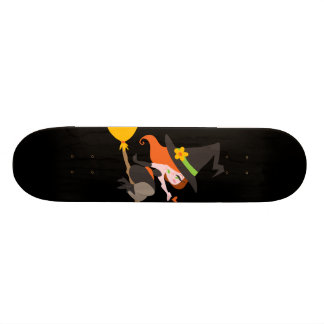 Witch Riding a Broomstick Custom Skate Board