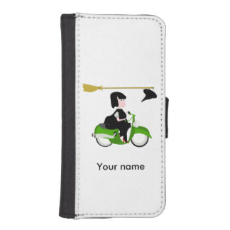 Witch Riding A Green Moped iPhone SE/5/5s Wallet