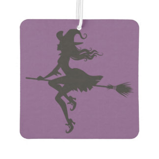 Witch Riding Broom Halloween Thunder_Cove Air Freshener