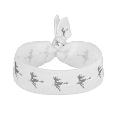 Witch Riding Broom Thunder_Cove  Halloween Elastic Hair Tie
