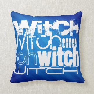 Witch; Royal Blue Stripes Pillows