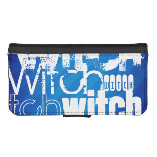 Witch; Royal Blue Stripes Phone Wallet