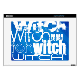 Witch; Royal Blue Stripes Decal For Laptop