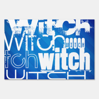 Witch; Royal Blue Stripes Sign