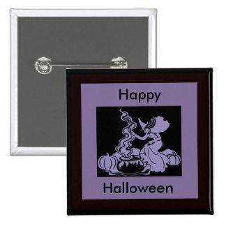 Witch s Brew Halloween Design Pinback Button