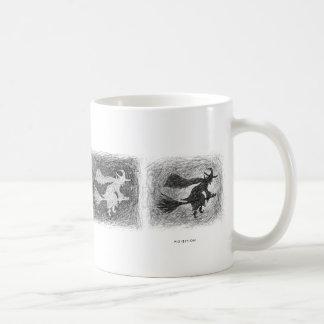 Witch Scratch Black White Mug