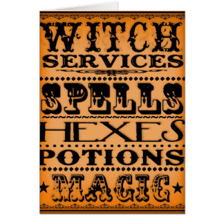 witch services greeting card