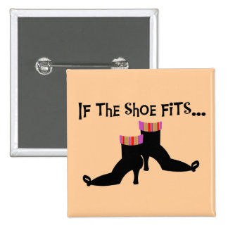 Witch Shoes T-shirts and Gifts 2 Inch Square Button