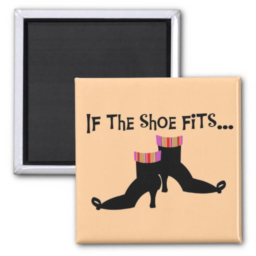 Witch Shoes T-shirts and Gifts 2 Inch Square Magnet