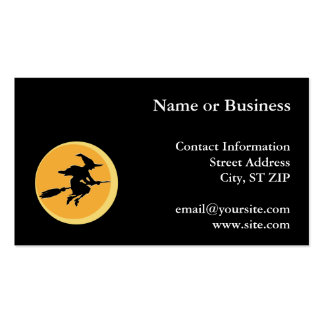Witch Silhouette Business Card Templates