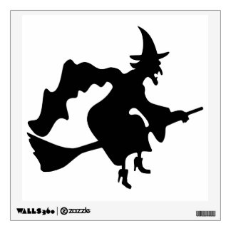 WITCH Silhouette Wall Sticker