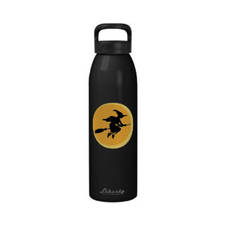 Witch Silhouette Reusable Water Bottle