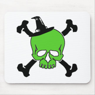 Witch Skull Mouse Pad