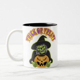 Witch Skull Two-Tone Coffee Mug