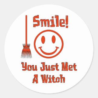 Witch Smile Classic Round Sticker