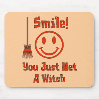 Witch Smile Mouse Pad