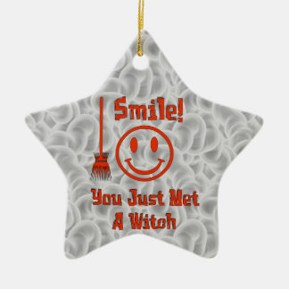 Witch Smile Christmas Ornament