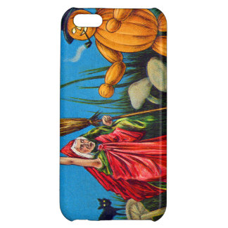 Witch Spell Jack O' Lantern Pumpkin Black Cat Case For iPhone 5C