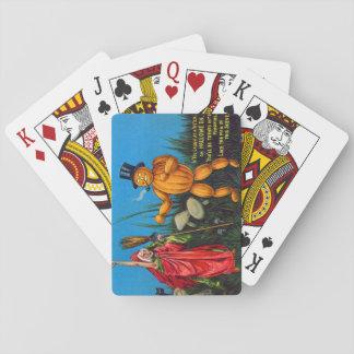 Witch Spell Jack O' Lantern Pumpkin Black Cat Card Deck