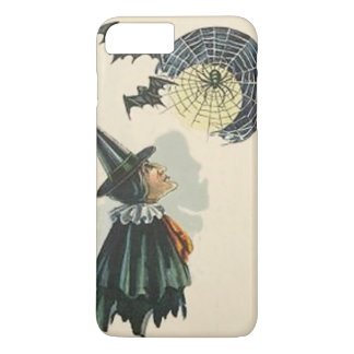 Witch Spider Web Cob Web Bat Full Moon iPhone 7 Plus Case