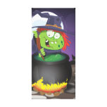 Witch Stirring a Cauldron . Stretched Canvas Prints
