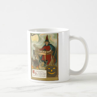 Witch Tarot Bat Full Moon Black Cat Coffee Mug