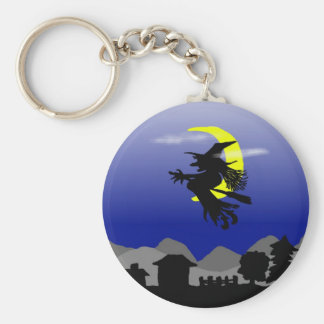 Witch Town Wicked Halloween Themed Design Keychain