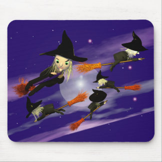 Witch Traffic Mouse Pad