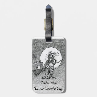 Witch travel bag tag