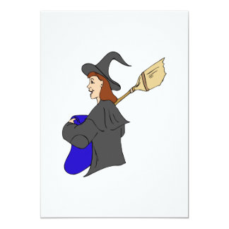 Witch Trick or Treater Girl Announcements