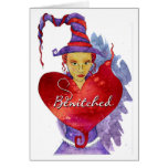 Witch Valentine Greeting Card