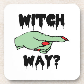 Witch Way Drink Coasters