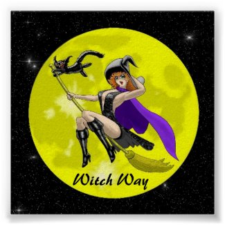 Witch Way print