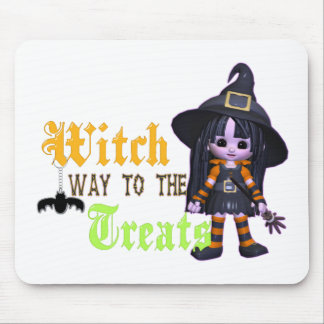 Witch Way To The Treats Mouse Pad
