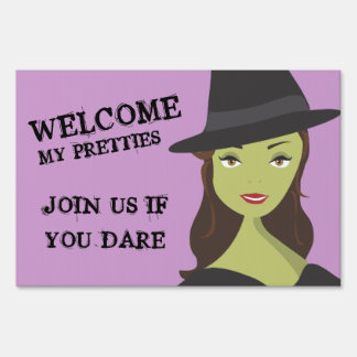 Witch Welcome My Pretties Halloween Yard Sign