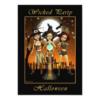 Witch Wicked Halloween Party Invitation