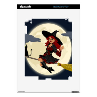 witch witchcraft broomstick broom decals for iPad 2