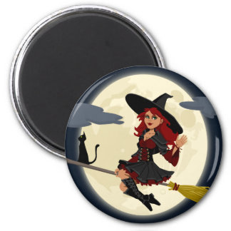 witch witchcraft broomstick broom magnet