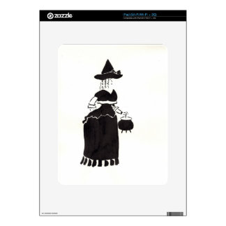 Witch With A Cauldron Decal For iPad