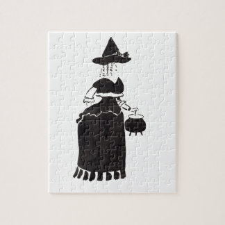 Witch With A Cauldron Jigsaw Puzzle
