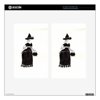 Witch With A Cauldron Kindle Fire Decal