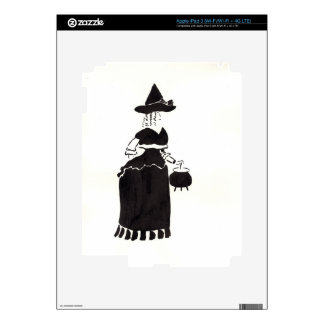 Witch With A Cauldron Skin For iPad 3