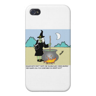 Witch With A Recipe Book iPhone 4/4S Case