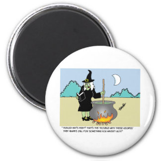 Witch With A Recipe Book Magnet