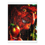 WITCH WITH APPLE 5X7 PAPER INVITATION CARD
