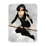 Witch with Broom Magnet Flexible Magnet